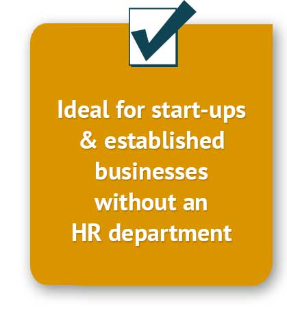 Ideal for start-ups and established businesses without an HR department
